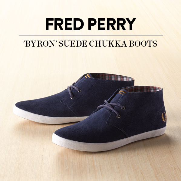FRED PERRY - 'BYRON' SUEDE CHUKKA BOOTS