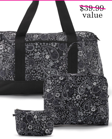 FREE 3 pc Paisley Travel Set with any order. Use promo code WW01233. Expires 2/11/14