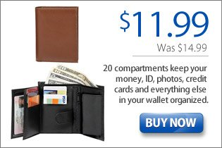 20 Compartment Leather Wallet