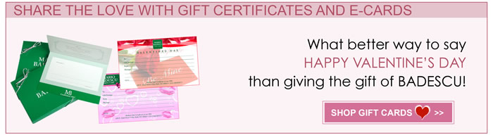 Send a gift certificate or an e-card to the one you care about for Valentines Day