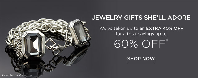 Up to 60% off Jewelry Gifts She'll Adore