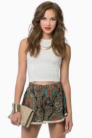 Amity Lace Trim Shorts 36