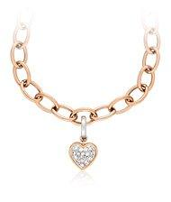 Rose Gold Heart Charm Set