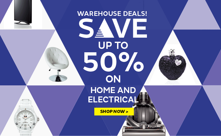 Warehouse deals - Save up to 50% on home & electricals