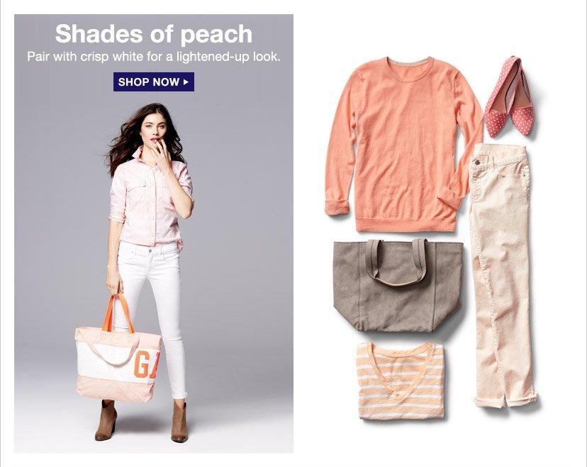 Shades of peach | SHOP NOW