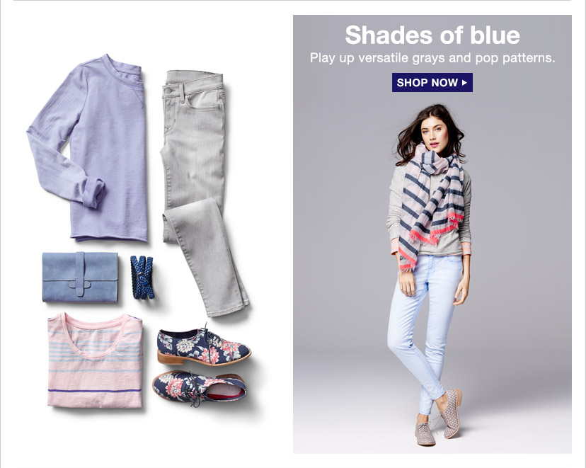 Shades of blue | SHOP NOW