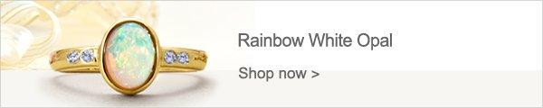 Rainbow White Opal