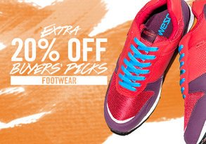 Shop Extra 20% Off Buyers' Picks Footwear