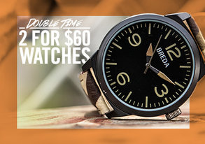 Shop Double Time: 2 for $60 Watches