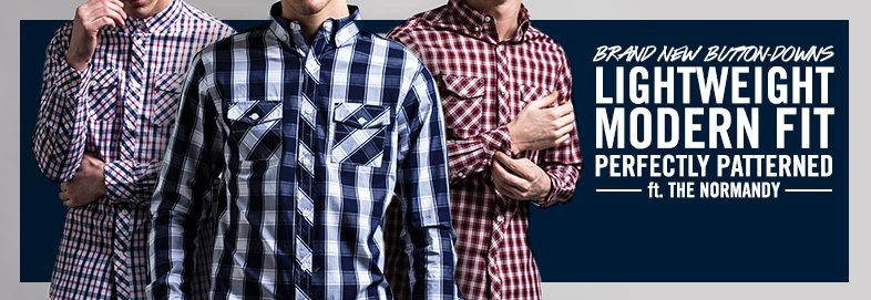 Shop NEW Button-Downs ft. The Normandy