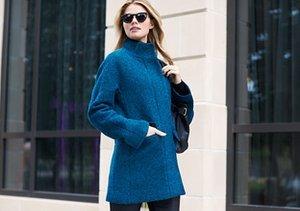 Winter Blues:  Bright & Cheery Coats