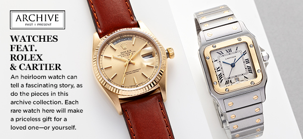 ARCHIVE: Watches feat. Rolex & Cartier