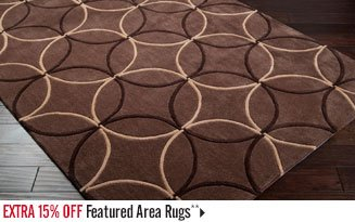 Extra 15% off Featured Area Rugs**