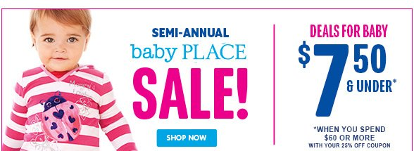 Semi-Annual Baby Sale! Deals for Baby $7 and under!