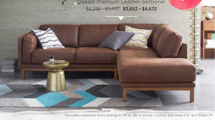 Dekalb Premium Leather Sectional