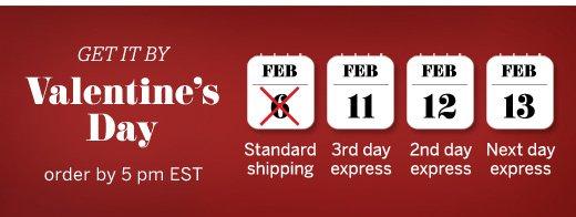Get It By Valentine's Day