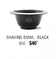Porcelain Shaving Bowl - Black