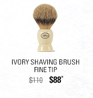 Ivory Shaving Brush - Fine Tip