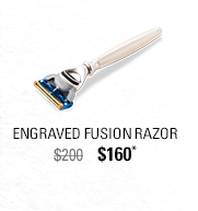 Engraved Fusion Razor
