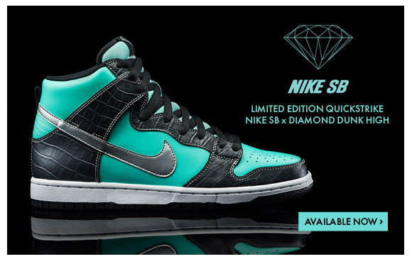Nike SB x Diamond Dunk High Available Now!