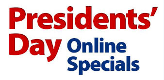 Shop all President's Day Online Specials