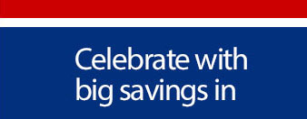 Celebrate with big savings in