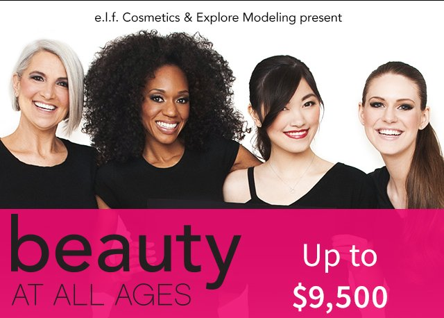 e.l.f. Cosmetics & Explore Modeling Presents: Beauty At All Ages!