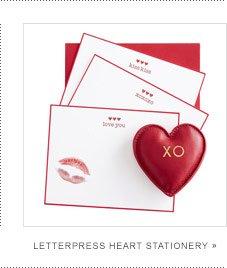 Letterpress Heart Stationery