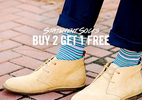 Shop Buy 2 Get 1 Free: Statement Socks