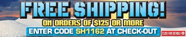Sportsman's Guide's Free Shipping with Your Merchandise Order of $125 or more! Enter Coupon Code SH1162 at checkout.