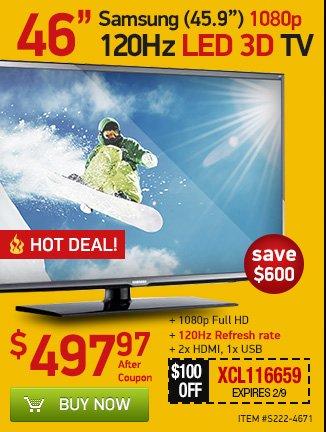 46-inch 3D TV