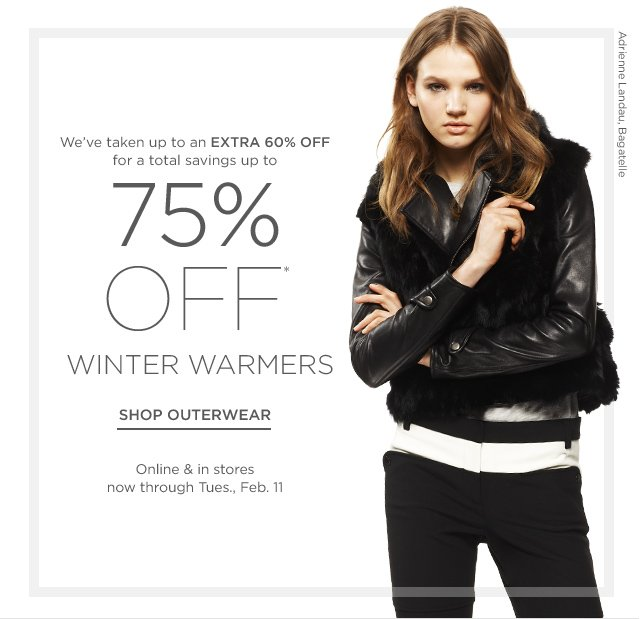 Up to 75% off Winter Warmers