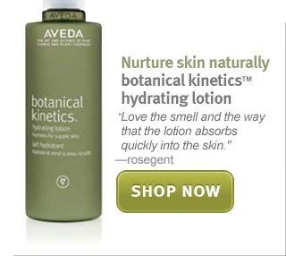 botanical kinetics hydrating lotion. shop now.