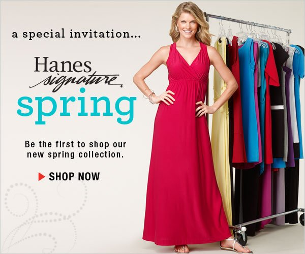 Shop All New Hanes Signature Spring Collection
