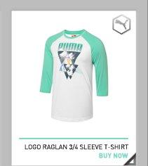Logo Raglan 3/4 Sleeve T-Shirt