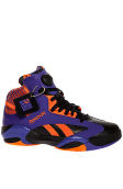 The Shaq Attaq Phoenix Suns Big Shaqtus Sneaker in Black, Fearless Purple, & Blazing Orange