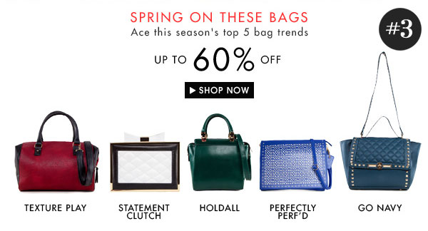 Top 5 bag trends - Up to 50% off