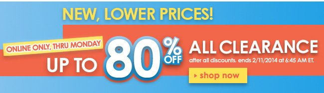 Up 80% off clearance