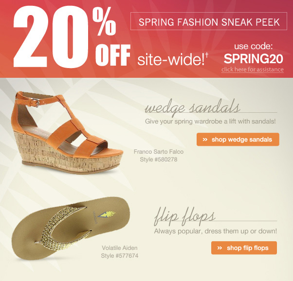 20% Off + Spring Fashion Sneak Peek!