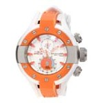 Invicta 13071 Men's S1 Rally Orange Bezel White Dial Rubber Strap Chronograph Dive Watch