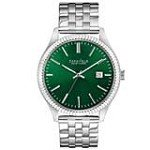 Caravelle 43B130 Mens New York Green Dial Stainless Steel Bracelet Date Watch