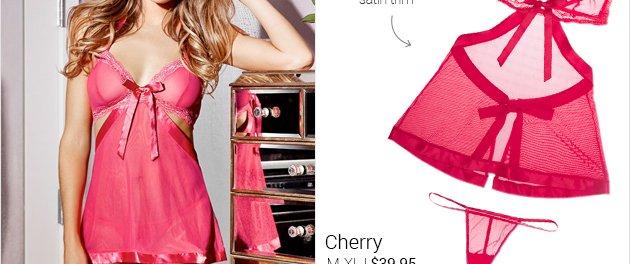 Cherry lingerie set