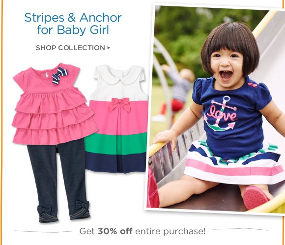 Stripes & Anchor for Baby Girl. Shop Collection. Get 30% off entire purchase!
