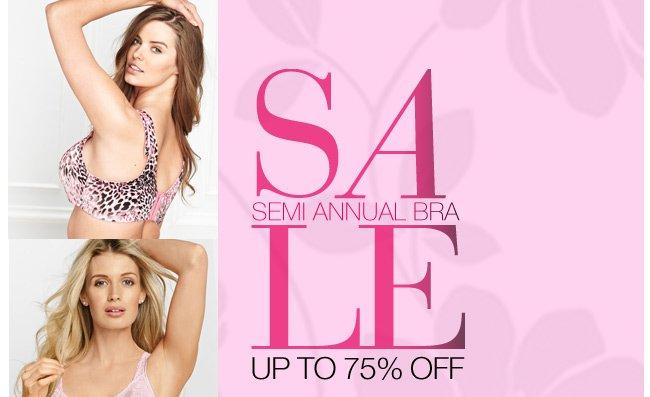 Semi-Annual Bra Sale, Up to 75% Off