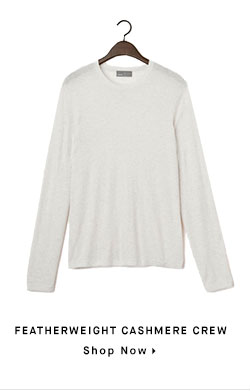 FEATHERWEIGHT CASHMERE CREW - Shop Now