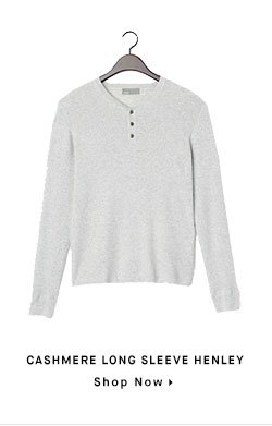 CASHMERE LONG SLEEVE HENLEY - Shop Now