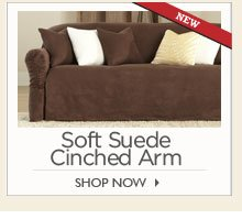 Soft Suede Cinched Arm