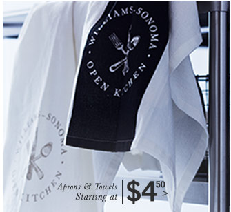 Aprons & Towels Starting at $4.50