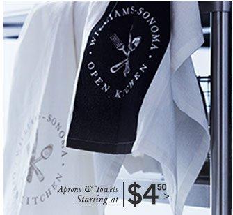 Aprons & Towels Starting at $4.50