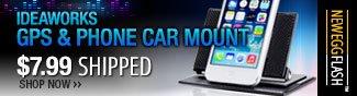 IdeaWorks Black GPS & Phone Car Mount JB7050